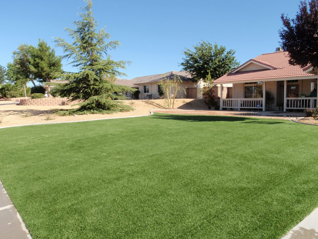 Front lawn created with turf