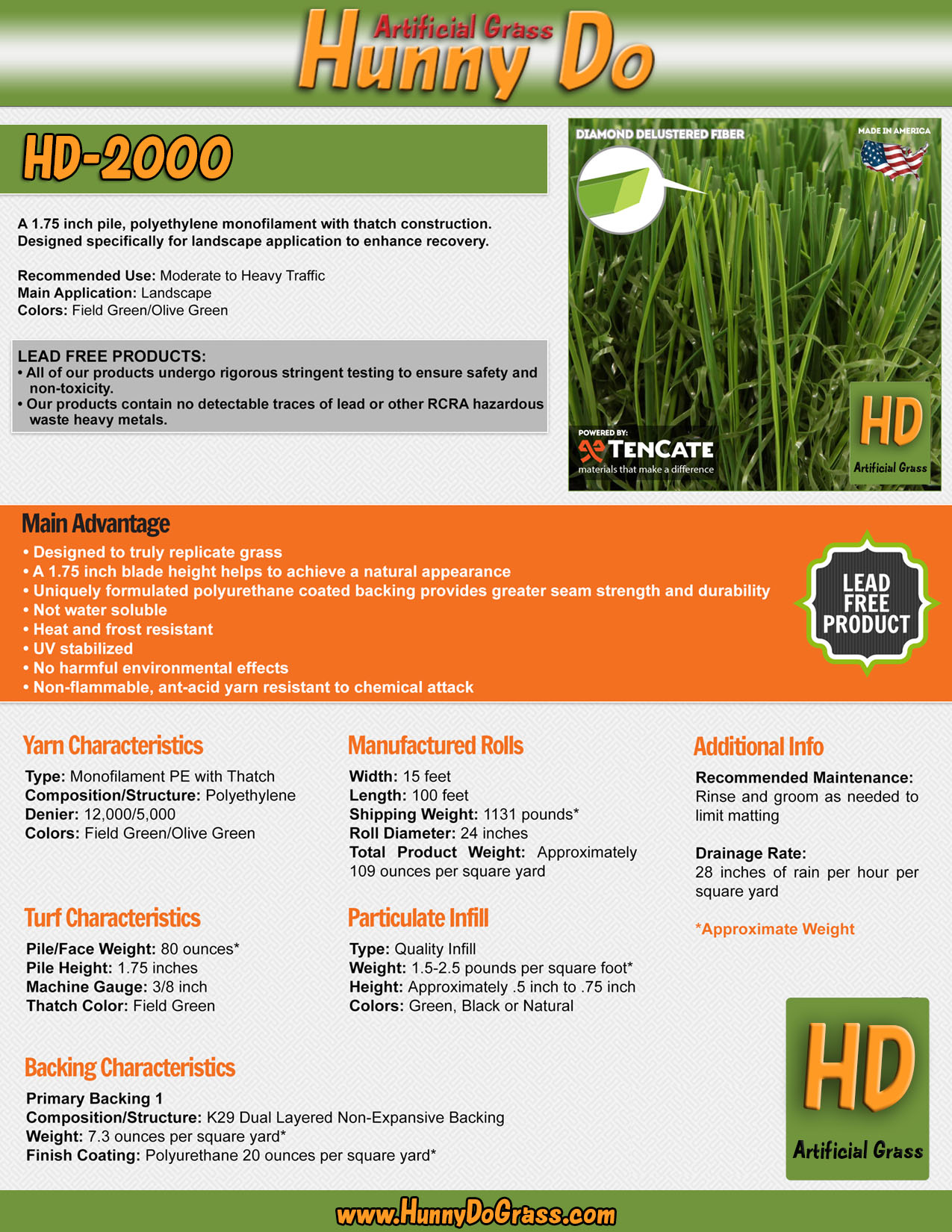 Hunny Do 2000 Specifications