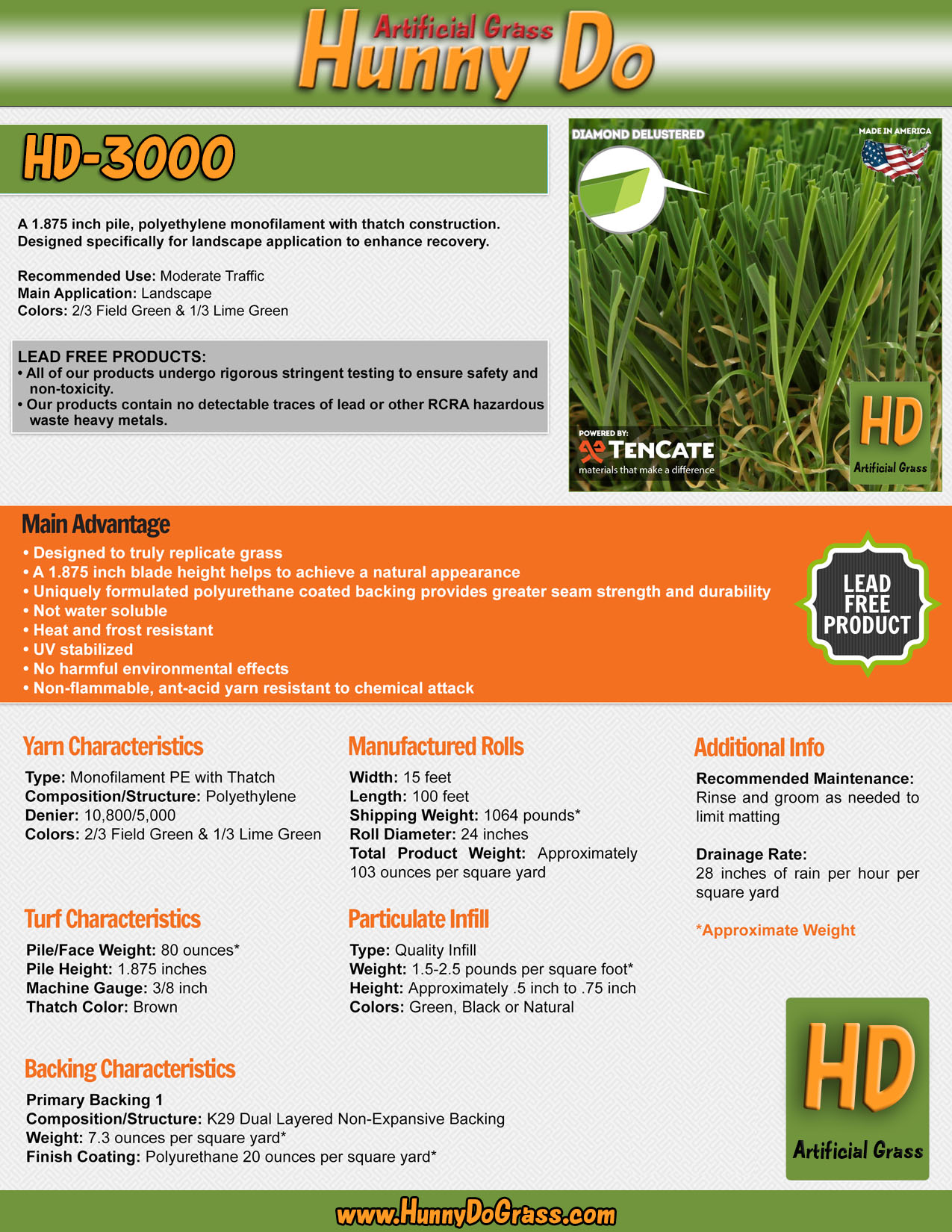 Hunny Do 3000 Specifications
