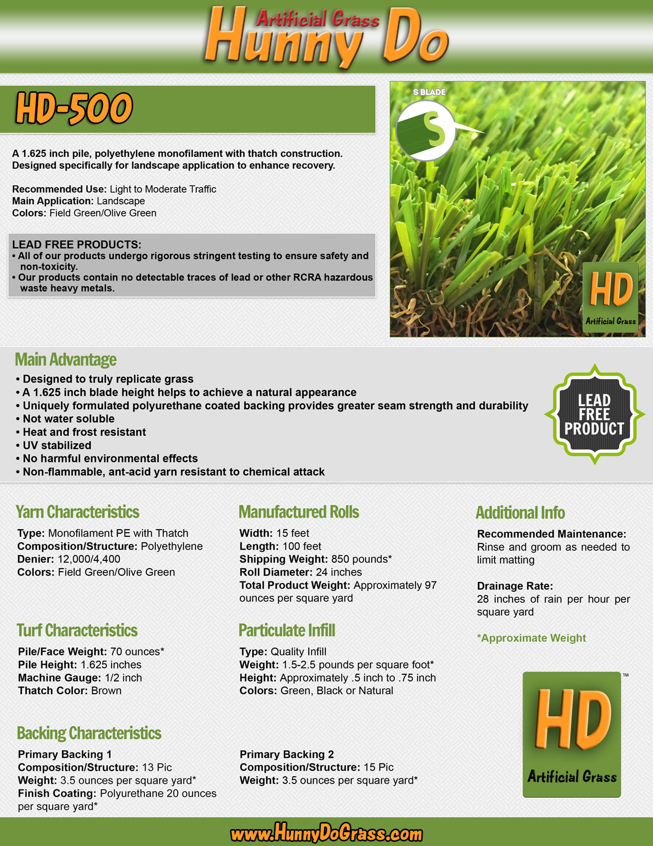 Hunny Do 500 Specifications
