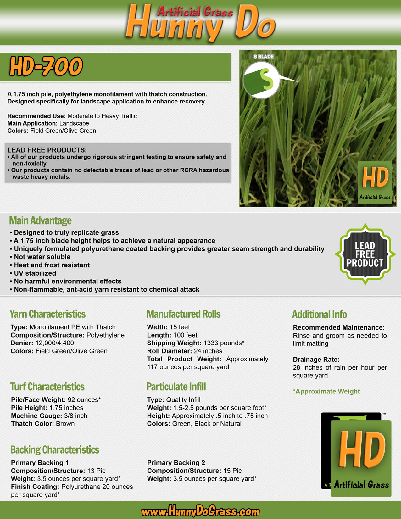 Hunny Do 700 Specifications